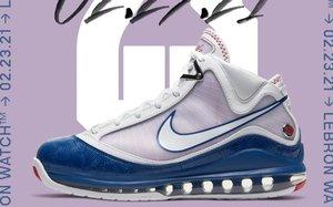 """今早发售你抢到了吗?Nike LeBron 7""""Baseball Blue"""" 人气不低!"""