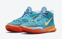 金色羽翼 Swoosh +埃及象形文字!Concepts x Nike Kyrie 7 联名首次曝光!