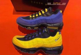 湖人配色!LeBron James x Nike Air Max 95 首度曝光!