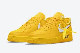 """官图来了!Off-White x Nike Air Force 1""""University Gold"""" 七月登场!"""