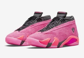 "全新 Air Jordan 14 Low WMNS ""Shocking Pink""  官图曝光!"