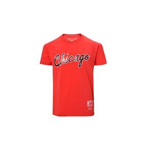 Mitchell&ness NBA系列印花T恤-公牛 MN13S24-CHI-RED