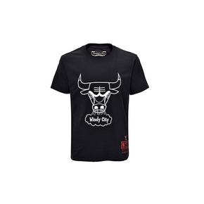 Mitchell&ness NBA系列印花T恤-公牛 MN13S27-CHI-BLACK
