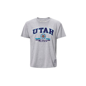 Mitchell&ness NBA系列印花T恤-爵士 MN13S29-UTA-GARY
