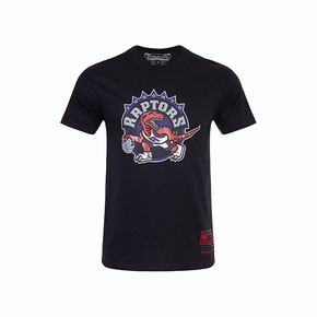 Mitchell&ness NBA系列印花T恤-猛龙 MN13S25-TOR-BLACK