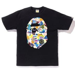 BAPE 双面糖果迷彩大猿人头T恤