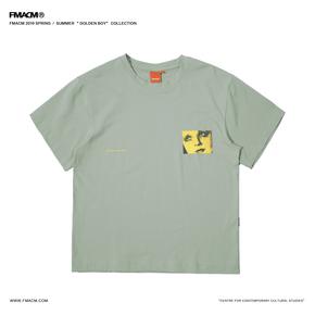 """FMACM 2019SS""""Golden boy""""发电站乐队专辑封面短袖 复古印花t恤"""