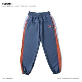 FMACM 2019SS 复古撞色拼接印花束脚裤 休闲宽松长裤