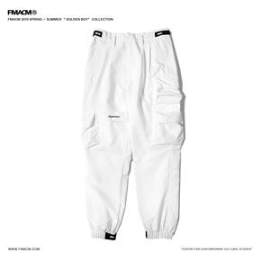"FMACM2019SS""Golden boy""资本主义刺绣立体袋束脚裤休闲工装裤"