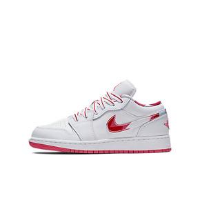Air Jordan 1 low GS AJ1低帮 白红花勾 女鞋 554723-104
