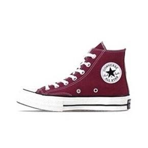 Converse匡威1970s三星标 酒红色高帮帆布鞋 162051C