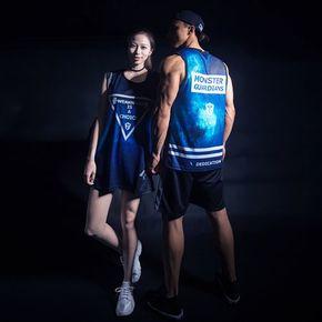 Monster Guardians MG专业运动健身训练无袖网眼背心星空数码印花(21)251640 A01001