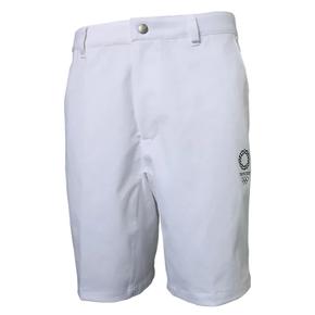 秒杀!ASICS亚瑟士 2020东京奥运限定夏季休闲短裤 白色 XA302X-01