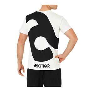秒杀!ASICS亚瑟士 大LOGO短袖T恤 黑白 2191A040-100