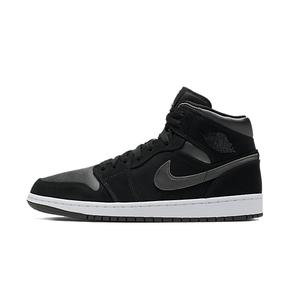 Air Jordan 1 Mid SE AJ1 黑银 中帮篮球鞋 852542-012