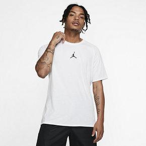 AIR JORDAN 后背字母LOGO 男子篮球运动短袖T恤 889714-102