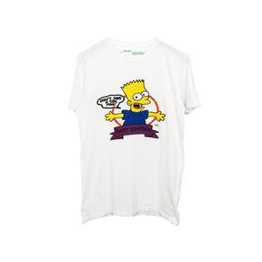 秒杀!OFF-WHITE C/O VIRGIL ABLOH  19SS 刺绣辛普森箭头短袖T恤