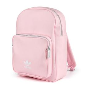 Adidas三叶草女包新款运动休闲包粉色学生书包双肩背包DU6809