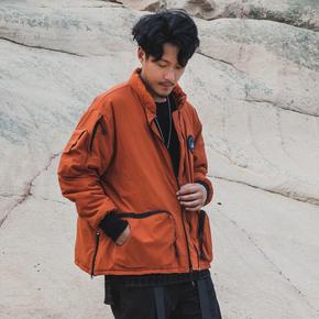 CHRROTA机能双色口袋复古水洗做旧古着功能MA-1夹克棉衣外套