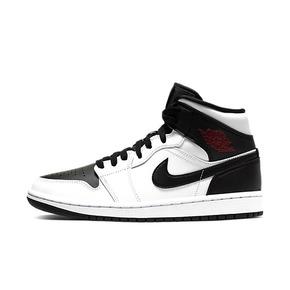 Air Jordan 1 AJ1 Mid 黑白反转黑脚趾熊猫中帮篮球鞋 BQ6472-101