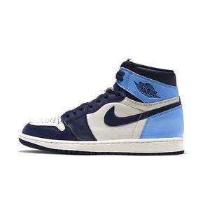 Air Jordan 1 High OG 黑曜石 黑北卡蓝男篮球鞋