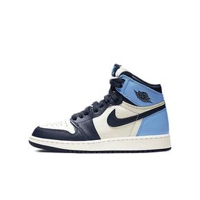 Air Jordan 1 AJ 黑曜石GS 黑蓝脚趾女生篮球鞋 575441-140