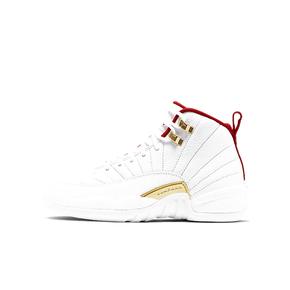 Air Jordan 12 FIBA AJ12篮球世界杯白红 GS女生篮球鞋 153265-107