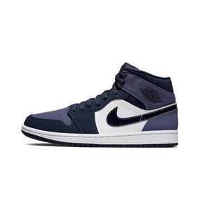 Air Jordan 1 MID AJ1 黑紫脚趾554724-445