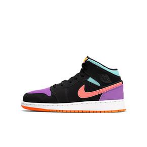 Air Jordan 1 Mid AJ1 GS糖果鸳鸯拼色篮球鞋 554725-083