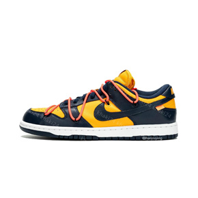 Off White X Nike Dunk low ow联名 黑黄 绑带 CT0856-700(2019.12.20发售)