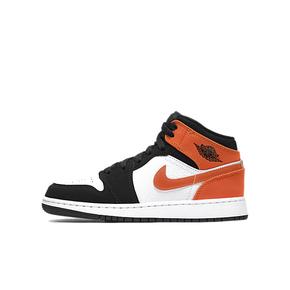 Air Jordan 1 Mid AJ1 GS 扣碎篮板 女子中帮 篮球鞋 554725-058