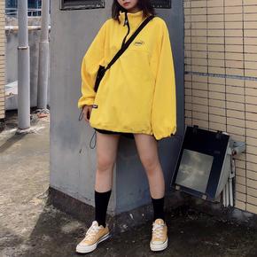 Smokinglife 2019秋装新款摇粒绒五色轻便卫衣套头外套国潮牌情侣