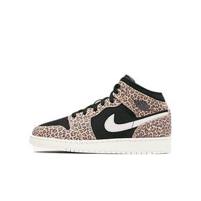 Air Jordan 1 MID GS AJ1中帮 豹纹女子篮球鞋 BQ6931-021