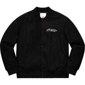 Supreme 19秋冬delta logo varsity jacket