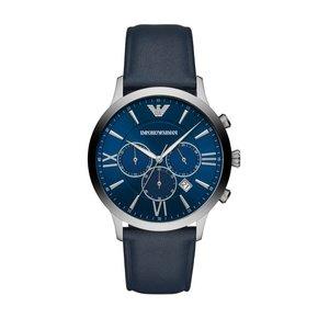 Armani阿玛尼官方正品新款蓝色多功能三表盘男表 皮带腕表AR11226