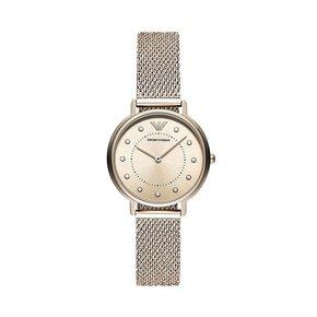 Armani阿玛尼正品满天星手表女 编织钢带手表镶钻女士手表AR11129