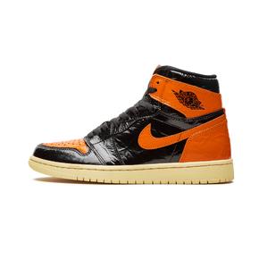 预售!Air Jordan 1 AJ1 GS黑扣碎篮板3.0 漆皮做旧 女鞋 575441-028(2019.10.28发售)