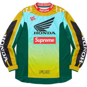 Supreme 19秋冬surpreme/honda/fox racing moto jersey top