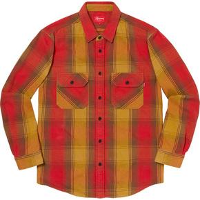 Supreme 19秋冬heavyweight flannel shirt