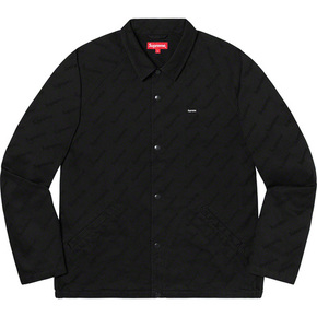 Supreme 19秋冬snap front jacquard logos twill jacket