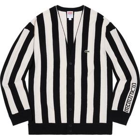 Supreme 19秋冬supreme/lacoste stripe cardigan