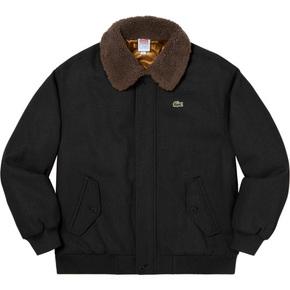 Supreme 19秋冬supreme/lacoste wool bomber jacket
