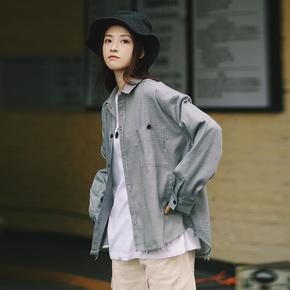 PSO Brand 19AW2 日系简约基础款原创个性设计千鸟格散边衬衫男女