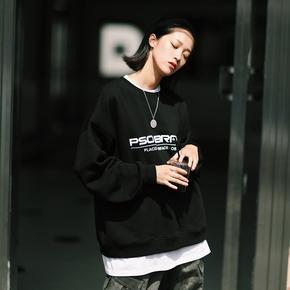 PSO Brand 19AW3 原创简约宽松LOGO圆领舒适套头oversize卫衣男女