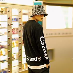 PSO Brand x Carrots 联名款纯棉圆领套头简约印花LOGO长袖T恤
