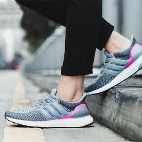 Adidas Ultra Boost 2.0 灰粉色  AQ5936