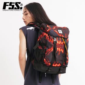 f5s熔岩系列休闲旅行双肩包大容量15.6寸电脑学生书包FSSW130