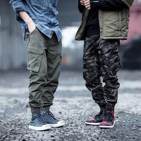 ENSHADOWER隐蔽者2016FW三色立体口袋工装束脚裤