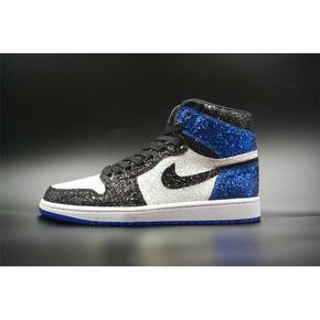 【球鞋定制】Air Jordan 1 大闪电 藤原浩联名闪电篮球鞋 繁星配色