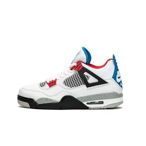 预售!Air Jordan 4 What The 篮球鞋AJ4红蓝鸳鸯 白红蓝水泥CI1184-146(2019.11.23发售)